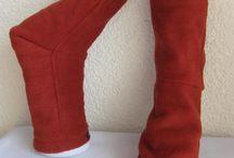 Socken genäht / Kuschelsocken, Fleece Socken, Bettsocken