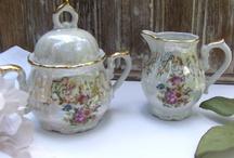 Children's Table / Fine China Tea Pots, Tea Cups & Napkin Rings for Children's Tea Parties & Tables.
