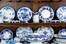 Blue and White / Collecting inspiration for a bedroom makeover.  Then I will unearth all my blue and white porcelain to decorate the walls...or maybe I'll redo the living room with my collection on the wall!