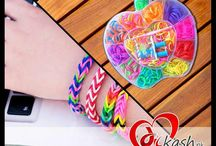 Loom Band Kit & Loom Bracelets / loom bands kids in pakistan with low rates and bracelets also.