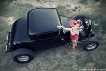 HOTRODS & PIN-up / Over pin ups and HOTRODS