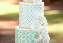 Geometric wedding cakes / Geometric patterns and shapes for wedding cakes