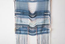 Wonderful Weavings / Indigo Autumn is a series of wall hangings handwoven with an array of fair trade, organic cotton, Catskills merino wool and 'peace' silk, a wild silk that is sustainably harvested after the moths have emerged from their silk cocoons. Each color in this collection is the result of meticulous traditional dyeing processes using plant pigments such as indigo, camelia sinensis, black walnut, cochineal and more.