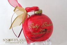 Baby Due Date Announcement Ornament