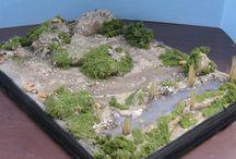 WWII Diorama Vignette Scenic Bases