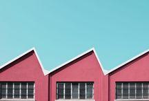 Pastels aesthetic building
