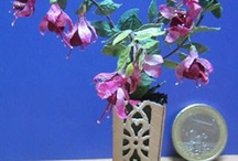 tutorials: flowers (orchids & fuschias) / Orchid and fuschia tutorials for dollhouses and miniature scenes