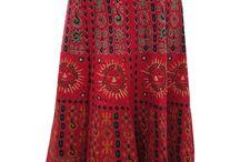 cotton wrap skirts