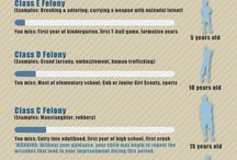Infographics / Informational infographics on a variety of criminal law issues.