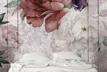 Fleurs charme / Textured Vinyl Wallpapers on non-woven base with a floral pattern.