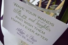 Ribbon wand signs