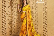 Sangeet-Catalog Laxmiapti / Buy the latest  chiffon, georgette designer printed saree  from Laxmipati Sarees.