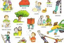 verbes illustrés pour parents
