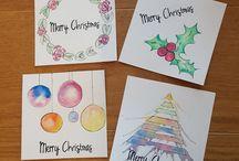 Simple Handlettering / Überall schön anzusehen. Im Bilderrahmen, zur Hochzeit, Weihnachtskarten. Jeder kann mit ein bisschen Übung schöne Karten oder andere Dekoelemente gestalten.