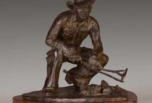 Greg Kelsey / Active Cowboy Sculptor  ||  Bronze, cattle, horse, cowboys, cowgirls, Native American