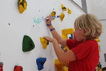 Climbing Wall Activities / There are so many fun things to do with students on a traverse climbing wall that help improve fitness levels!