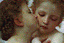 San Valentino / Le più belle immagini d'amore con i chiodini Quercetti Pixel Art
