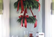 wreaths over table