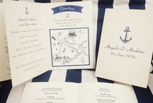 Order of Service designs by Quints of Jersey. / Order of service designs with illustrated maps from ceremony to reception and tissues incase guests cry. For bespoke order of service or wedding stationery design and print contact us at: info@quintsofjersey.com or visit www.quintsofjersey.com