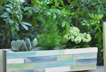 wooden planters and pot planters ideas