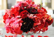 Table Arrangements / Wedding round table or long table arrangements