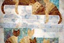 Quilt blocks -cats
