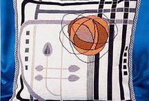 абстракции вышивка