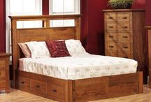 Solid Wood Platform Beds / Featuring a clean edge, solid platform design will accentuate the natural beauty of the Amish handcrafted hardwood bed that you choose.