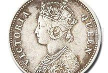 British India - Victoria Queen / Different coins of Victoria Queen of British India