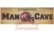 Epic Virginia Tech Man Cave / Sometime men just need a cave to crawl in and hide out for a while. These are the products that will make your man cave epic. / by Campus Emporium