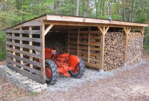 Wood logs storage