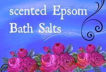 Scented Epsom Bath Salts / Epsom bath salts, how to make them, how they help your body by providing minerals and healing. http://hartnana.com/make-scented-epsom-bath-salts/