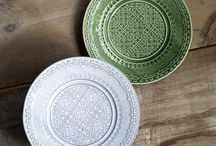 Green plates, white plates from homeaddress.co #green