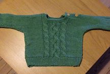 Baby knits / Knitted baby clothing. A great past time, great gifts... and much faster to do than adult size clothing ;)