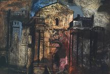 John Piper / John Egerton Christmas Piper CH (13 December 1903 – 28 June 1992) was a 20th-century English painter and printmaker. For much of his life he lived at Fawley Bottom in Buckinghamshire, near Henley-on-Thames.