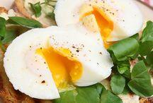 Poschierte Eier