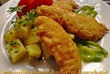 Csirkés receptek és köretek
