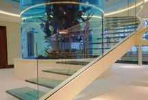 Glass Stairs & Balustrades / A collection of beautiful Glass Stairs & Balustrades.