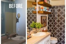 Bathroom Restyle / Rustic chic romantic bathroom restyle.