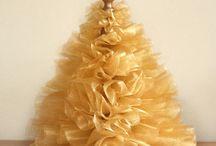 Christmas Tulle Trees Wreaths Bottle Brush Trees Wreaths / Tulle Trees Bottle Brush Trees / by Judy Marie
