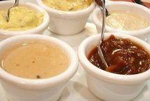 Marinády- dresingy - omáčky / Na rôzne druhy masa marinády a rôzne omačky a dresingy k hotovým jedlám