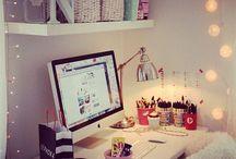 Decoração / Dicas para decorar sua mesa de trabalho/escola!