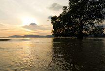 บรรยากาศพระทิตย์ตก BaanPanwa Resort