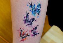 water colour tatoos