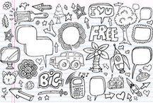 Biblioteca doodles