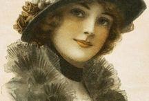 Frauen Gesicht-Vintage-Digit. / Frauen  / by Gabriele Bruch