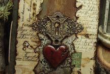 1a MIXED MEDIA 1 / kaartjes en tags, vanalles wat / by yijke