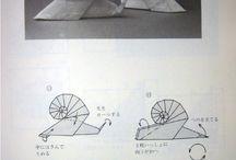 snail make origami