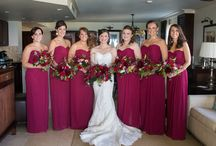 Bridesmaid Bouquet - Burgundy