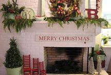 Christmas *  Fireplace/Mantel
